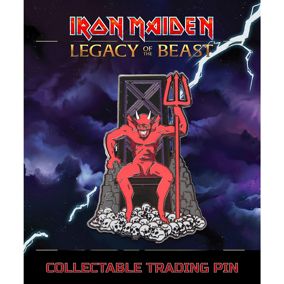 Entertainment Earth Iron Maiden The Beast Lapel Pin