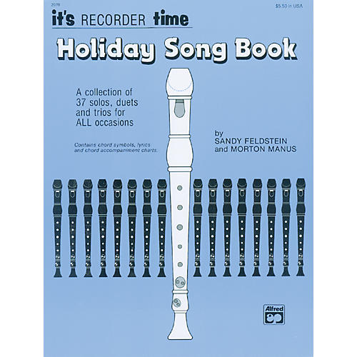 Alfred Its Recorder Time: Holiday Songbook