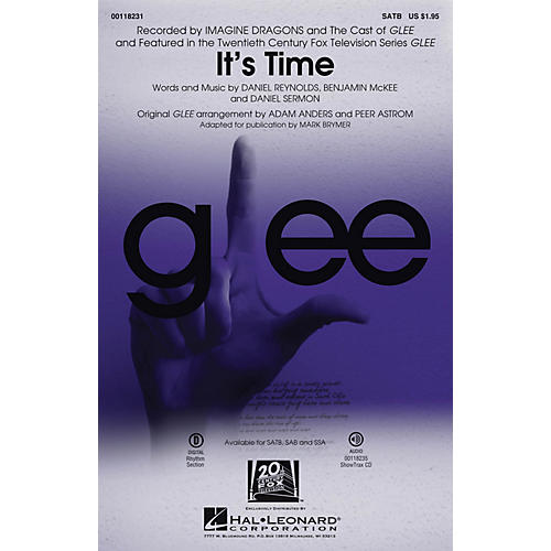 Hal Leonard It's Time SAB by Glee Cast Arranged by Adam Anders