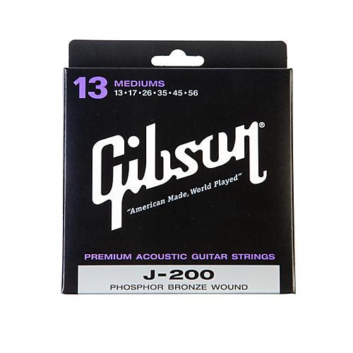 Gibson J-200 Deluxe Phosphor Bronze Acoustic Guitar Strings - Medium