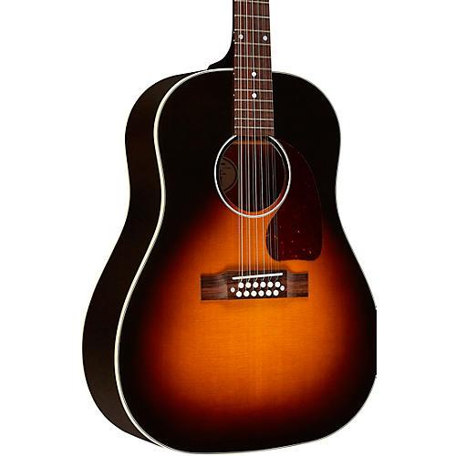 Gibson J-45 Standard 12-String Acoustic-Electric Guitar Vintage Sunburst