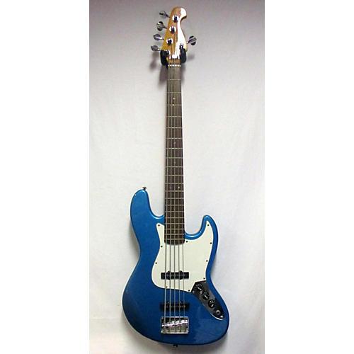 used sx j style electric bass guitar blue guitar center. Black Bedroom Furniture Sets. Home Design Ideas
