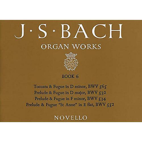 Music Sales J.S. Bach: Organ Works Book 6 Music Sales America Series