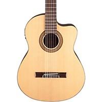 Jasmine Jc-25Ce Cutaway Classical Acoustic-Electric Guitar Natural