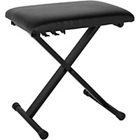 Musician's Gear Padded Piano Bench Black