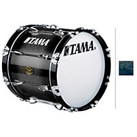 Tama Marching Bubinga/ Birch Bass Drum Smoky Indigo Fade 14X16