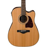 Ibanez Aw450cent Artwood Solid Top Dreadnought Acoustic-Electric Guitar Natural