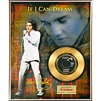 24 Kt. Gold Records Elvis Presley If I Can Dream Gold 45 Limited Edition Of 2500