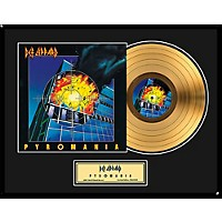24 Kt. Gold Records Def Leppard Pyromania Gold Lp Limited Edition Of 2,500