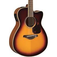 Yamaha Fsx730sc Solid Top Concert Cutaway Acoustic-Electric Guitar Brown Sunburst