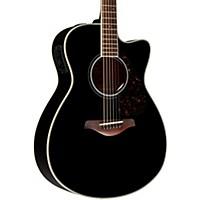 Yamaha Fsx720sc Solid Top Concert Cutaway Acoustic-Electric Guitar Black