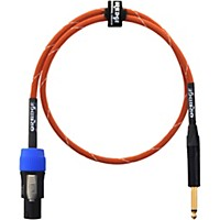 Orange Amplifiers 1/4 Inch To Speakon Speaker Cable Orange With White Stripes 3 Ft.
