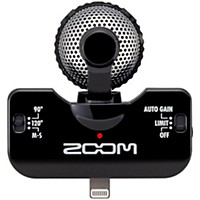 Zoom Iq5 Professional Stereo Microphone For Iphone Black