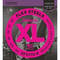 D'addario Flexsteels Long Scale 6-String Bass Guitar Strings (32-130)