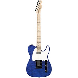 Fender Custom Shop Custom Deluxe Telecaster Electric Guitar With Maple Fingerboard Transparent Cobalt Blue Maple
