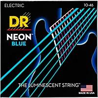 Dr Strings Hi-Def Neon Blue Coated Medium  ...