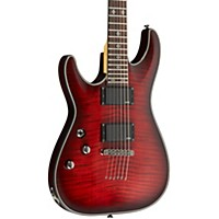 Schecter Guitar Research Damien Elite-6 Left Handed Electric Guitar Crimson Red Burst