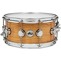 Dw Exotic Figured Olive Ash Lacquer Snare 14  ...