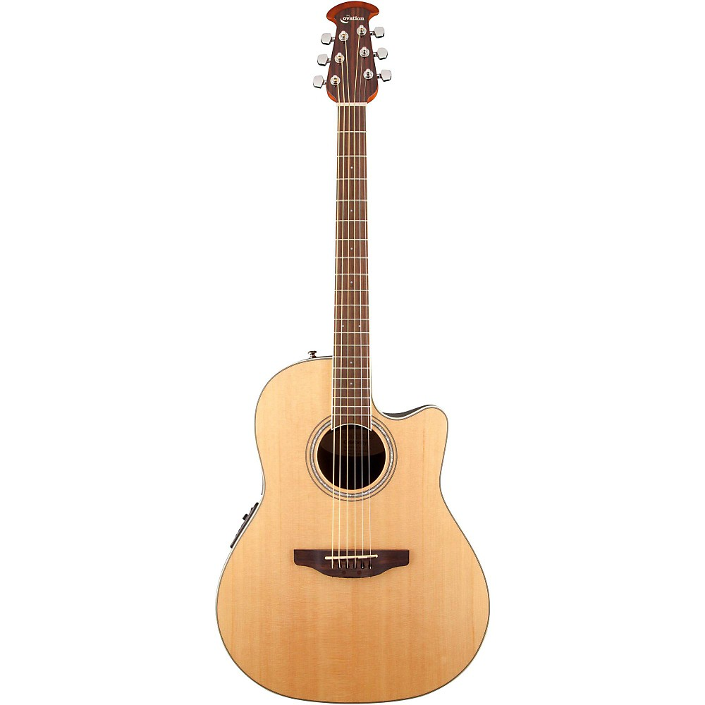 Ovation Celebrity Standard Mid-Depth Cutaway Acoustic-Electric Guitar Natural -  CS24-4