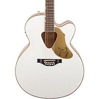 Gretsch Guitars G5022cwfe-12 Rancher Falcon Jumbo 12-String Acoustic-Electric Guitar White