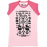 Fender Guitar Formula Youth T-Shirt Pink 9-10 Yr/Xl