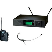 Audio-Technica 3000 Series Headworn Wireless Microphone System / C Band Black C-Band