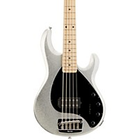 Music Man Stingray 5 H 5-String Electric Bass Guitar Silver Sparkle