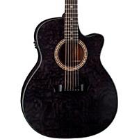 Dean Exotica Ultra Quilt Ash Acoustic-Electric Guitar Transparent Black