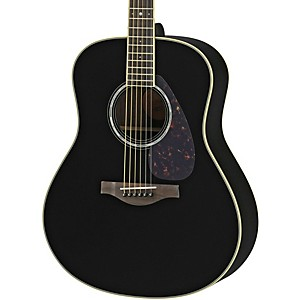 Yamaha Ll6r L Series Rosewood/Spruce Dreadnought Acoustic-Electric Guitar Black