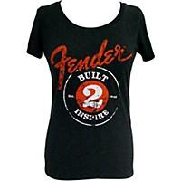 Fender Built 2 Inspire Ladies T-Shirt Black Small