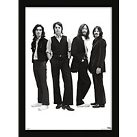 Ace Framing Beatles Group With Long Hair 24X36 Poster