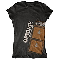 Orange Amplifiers Ladies Stack T-Shirt Black Small