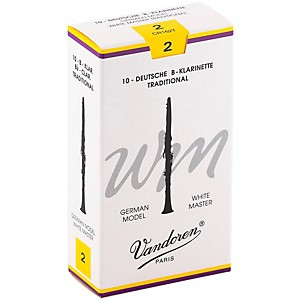 Vandoren White Master Traditional Bb Clarinet Reeds Box Of 10, Strength 2