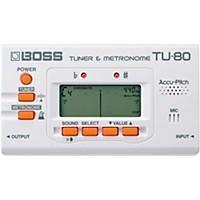 Boss Tu-80 Guitar Tuner & Metronome White