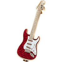 Fender Lapel Pin Strat Red Glitter