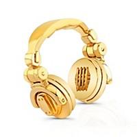 Sound Headz Dj Headphone Pendant 14Kt White Gold Plated