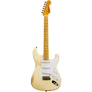 Fender Custom Shop 1954 Heavy Relic Stratocaster Electric Guitar Aged Vintage White