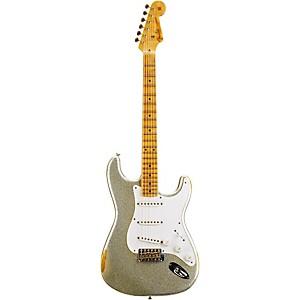 Fender Custom Shop 1954 Heavy Relic Stratocaster Electric Guitar Silver Sparkle