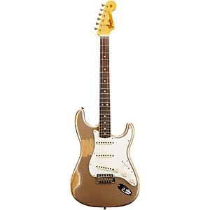 Fender Custom Shop L-Series 1964 Stratocaster Heavy Relic Electric Guitar Shoreline Gold Metallic