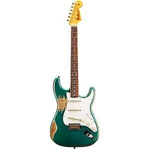 Fender Custom Shop L-Series 1964 Stratocaster Heavy Relic Electric Guitar Sherwood Green Metallic