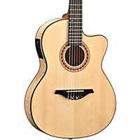 Manuel Rodriguez Flmod550 Flamenco Moderna Acoustic-Electric Nylon String Natural Flame Maple B And S, Solid Spruce Top