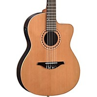 Manuel Rodriguez Flmod500 Flamenco Moderna Acoustic-Electric Nylon String Natural Walnut B And S, Solid Cedar Top