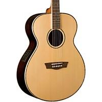 Washburn Wg27se Grand Auditorium Acoustic Electric Guitar Natural