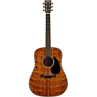 Martin Custom D-18 Quilted Mahogany Dreadnought Acoustic Guitar Natural