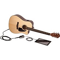 Fender Fa-300Ce Slide Acoustic-Electric Guitar Pack Natural