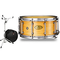 Pearl Concert Series Snare Drum With Stand And Free Bag 14 X 5.5 In. Natural