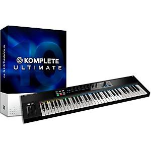 Native Instruments Komplete 10 Ultimate And Kontrol S61 Keyboard Bundle