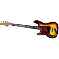 Fretlight Fb-525 Left Handed Electric Bass Guitar With Built-In Lighted Learning System Sunburst