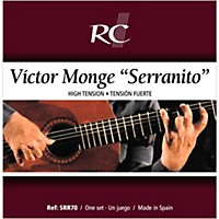 Rc Strings Srr70 Serranito High Tension Nylon Guitar Strings With A Carbon 3Rd