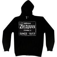 Zildjian Vintage Sign Zip Hoodie Black Small